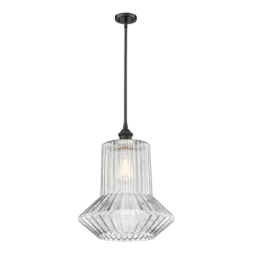 Innovations Lighting Springwater Oiled Rubbed Bronze 12-Inch LED Pendant with Clear Crystal Novelty Glass