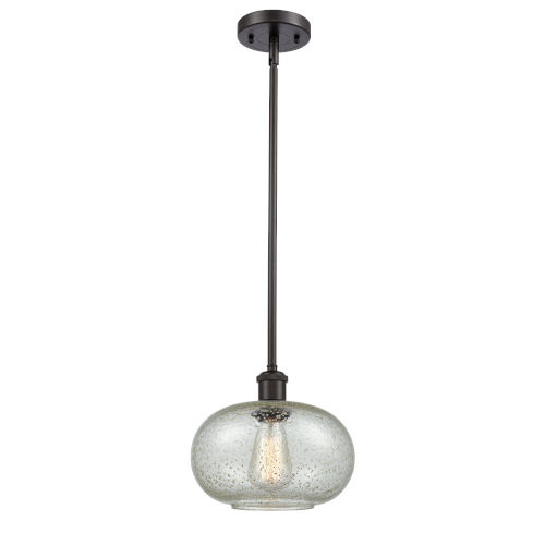 Gorham Oil Rubbed Bronze One-Light Mini Pendant with Seedy Glass