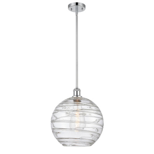 Ballston Polished Chrome 12-Inch One-Light Pendant with Clear Glass Shade