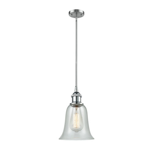 Hanover Polished Chrome One-Light Hang Straight Swivel Mini Pendant with Fishnet Glass