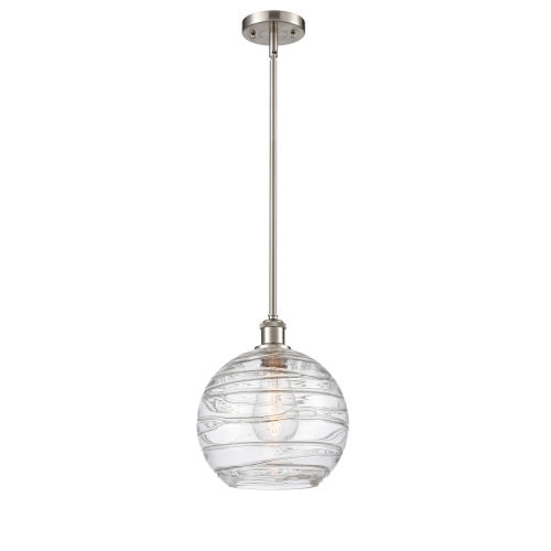 Ballston Brushed Satin Nickel 10-Inch LED Pendant with Clear Glass Shade