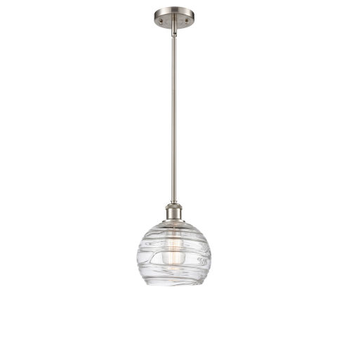 Ballston Brushed Satin Nickel Eight-Inch One-Light Mini Pendant with Clear Glass Shade