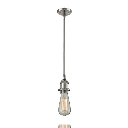 Bare Bulb Brushed Satin Nickel Five-Inch LED Mini Pendant