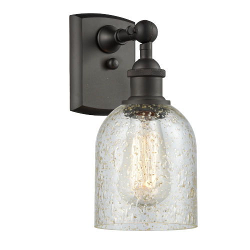 Caledonia Oil Rubbed Bronze One-Light Wall Sconce with Mica Glass