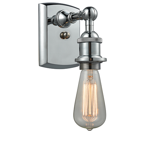 Innovations Lighting Bare Bulb Polished Chrome Seven-Inch One-Light Wall Sconce