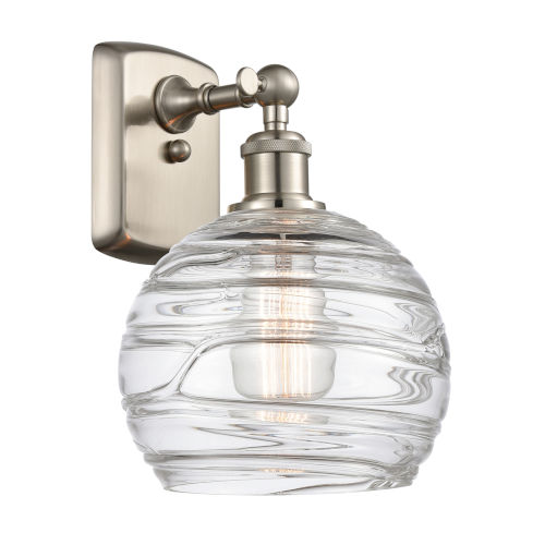 Ballston Brushed Satin Nickel Eight-Inch One-Light Wall Sconce with Clear Glass Shade