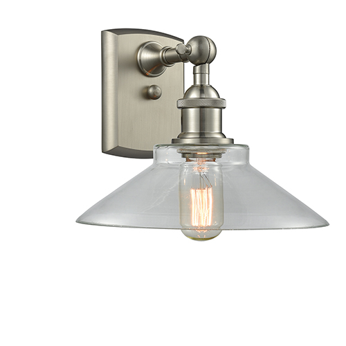 Innovations Lighting Disc Brushed Satin Nickel LED Wall Sconce with Clear Cone Glass