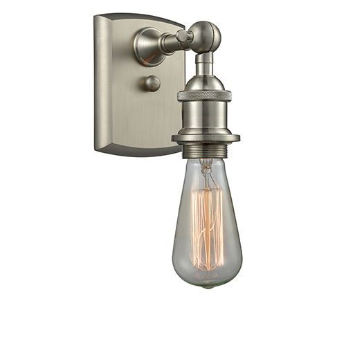 Innovations Lighting Bare Bulb Brushed Satin Nickel Seven-Inch One-Light Wall Sconce