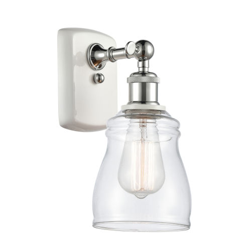 Ballston White and Polished Chrome Five-Inch One-Light Wall Sconce