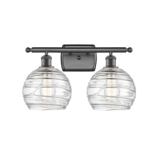 Ballston Oil Rubbed Bronze 16-Inch Two-Light LED Bath Vanity with Clear Glass Shade