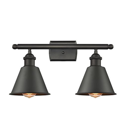Innovations Lighting Smithfield Oiled Rubbed Bronze Two-Light Bath Vanity