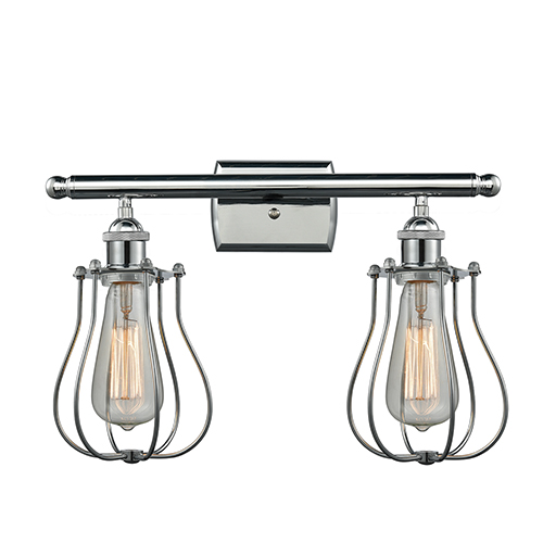 Innovations Lighting Barrington Polished Chrome Two-Light Bath Vanity
