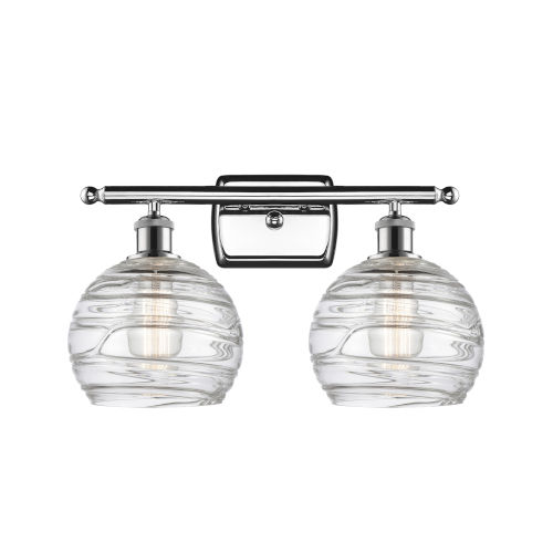 Ballston Polished Chrome 16-Inch Two-Light Bath Vanity with Clear Glass Shade