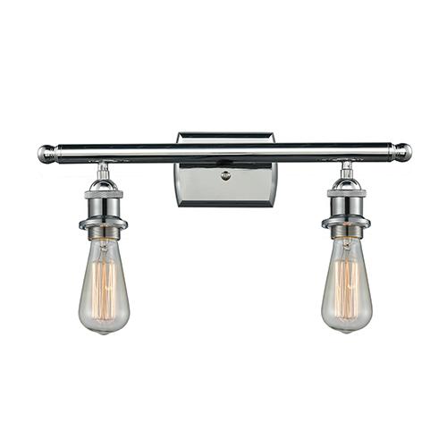 Innovations Lighting Bare Bulb Polished Chrome 16-Inch Two-Light Bath Vanity