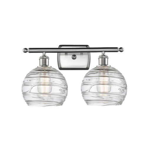Ballston Brushed Satin Nickel 16-Inch Two-Light Bath Vanity with Clear Glass Shade