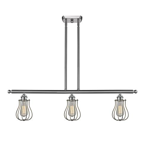Innovations Lighting Barrington Brushed Satin Nickel Three-Light LED Island Pendant