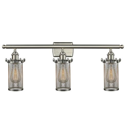 Innovations Lighting Bleecker Brushed Satin Nickel Three-Light LED Bath Vanity