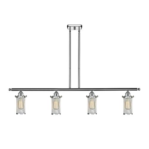 Bleecker Polished Chrome Four-Light LED Island Pendant