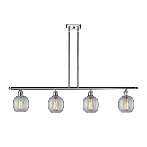 Innovations Lighting Belfast Polished Chrome Four-Light LED Island Pendant with Clear Seedy Sphere Glass