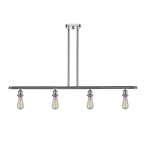Innovations Lighting Bare Bulb Polished Chrome Four-Light LED Island Pendant