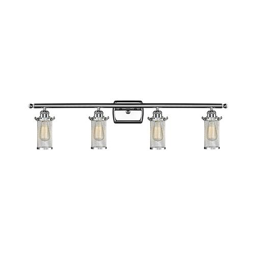 Innovations Lighting Bleecker Polished Chrome Four-Light LED Bath Vanity