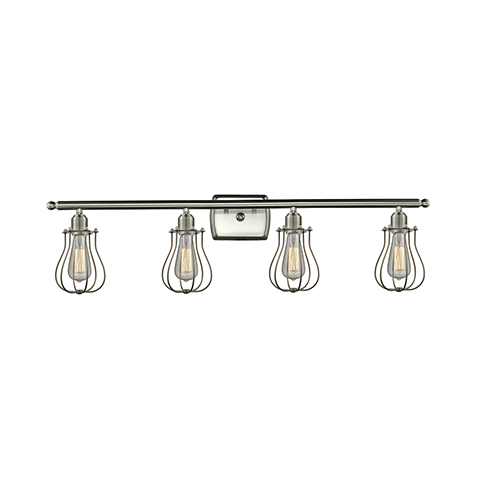 Innovations Lighting Barrington Brushed Satin Nickel Four-Light LED Bath Vanity
