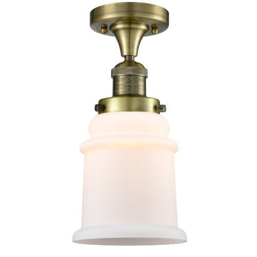 Canton Antique Brass LED Semi Flush Mount
