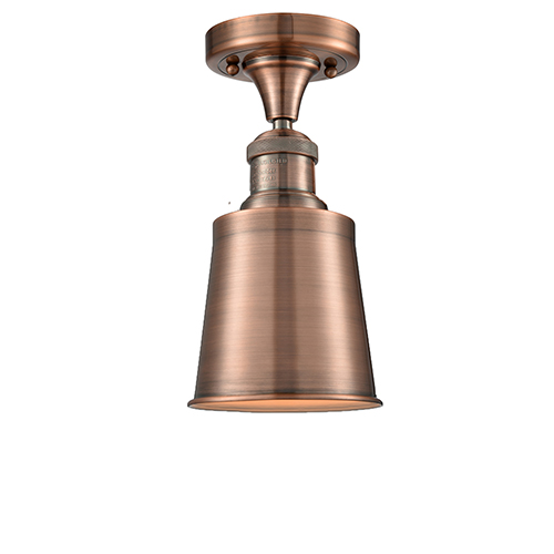 Innovations Lighting Addison Antique Copper Nine-Inch LED Semi Flush Mount