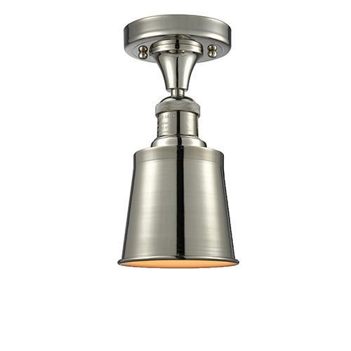 Innovations Lighting Addison Polished Nickel Nine-Inch LED Semi Flush Mount