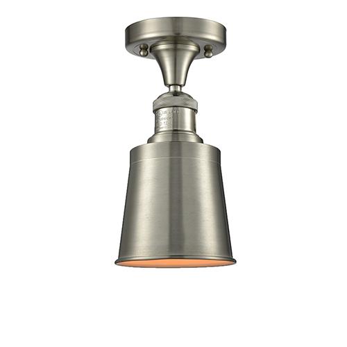 Innovations Lighting Addison Brushed Satin Nickel Nine-Inch One-Light Semi Flush Mount