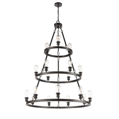 Ballston Matte Black 40-Inch 18-Light LED Chandelier