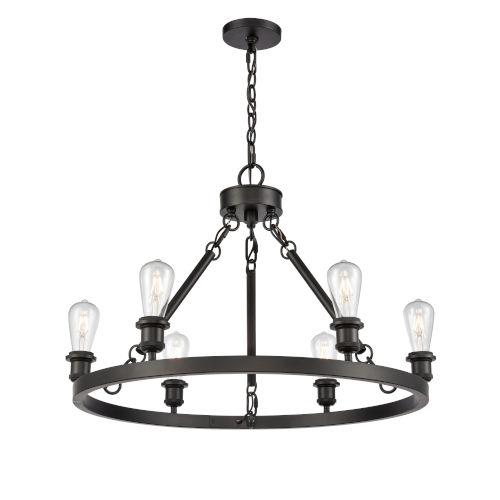Ballston Matte Black Six-Light LED Chandelier
