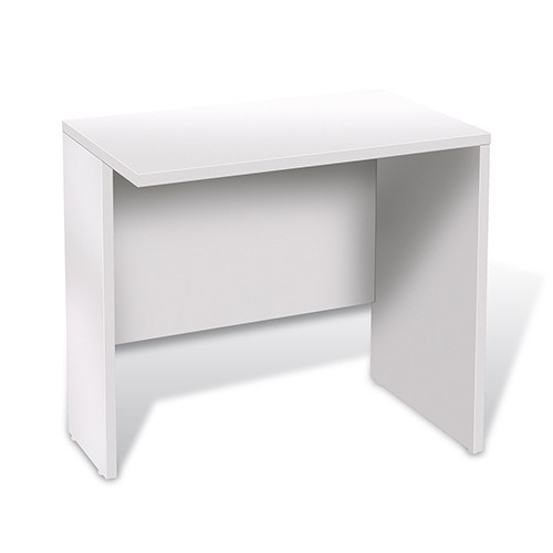 100 Collection White 32-Inch Narrow Return Desk