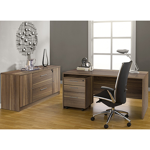 Unique Furniture 100 Collection Walnut Executive Office Desk With
