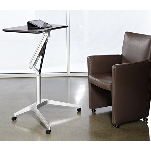 Workpad Height Adjustable Standing Laptop Desk with Espresso Top