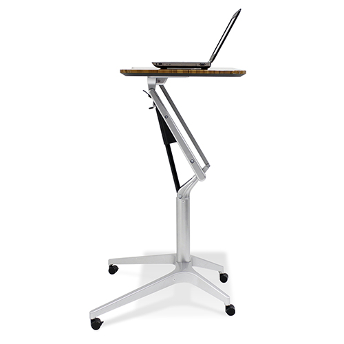 Workpad Height Adjustable Standing Laptop Desk with Walnut Top