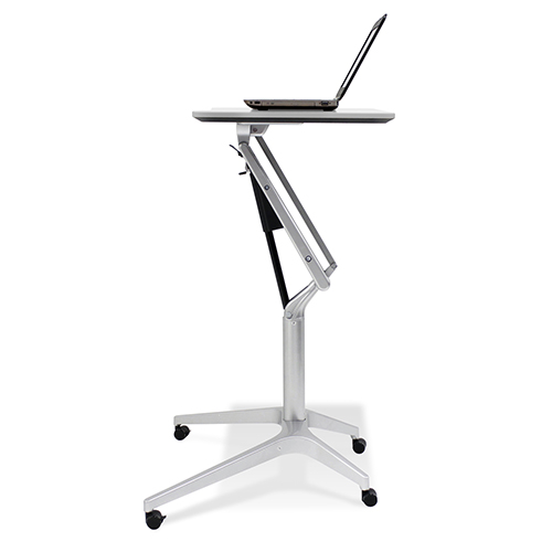 Workpad Height Adjustable Standing Laptop Desk with White Top
