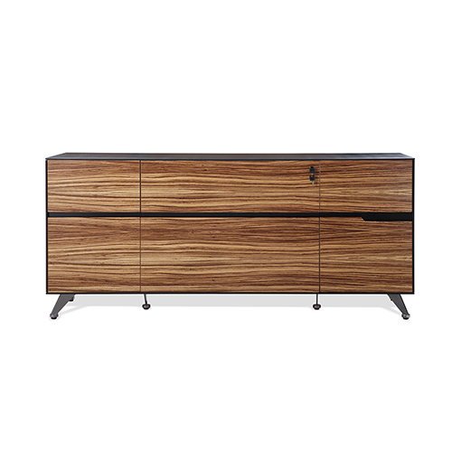 400 Collection Zebrano Storage Credenza