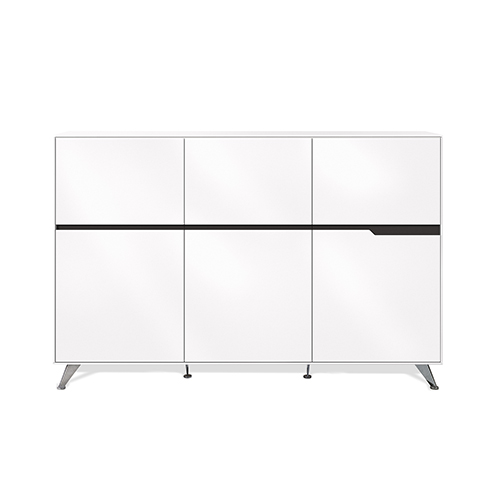 Unique Furniture 400 Collection White Storage Cabinet
