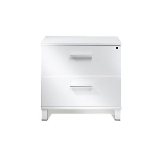 Unique Furniture 500 Collection White Lateral File Cabinet