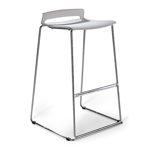Unique Furniture White Sparky Barstool