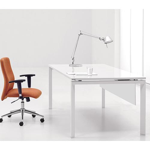 Unique Furniture 500 Collection White Mangers Desk