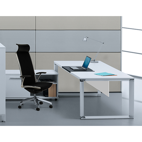 500 Collection White Executive Desk