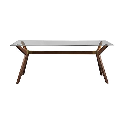 Denali Walnut Glass Dining Table
