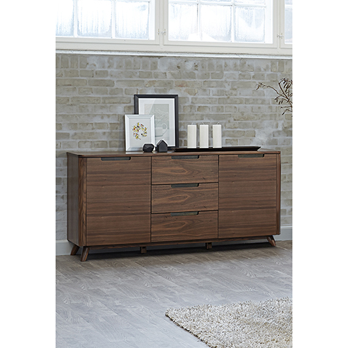 Tahoe American Walnut Three Section Sideboard