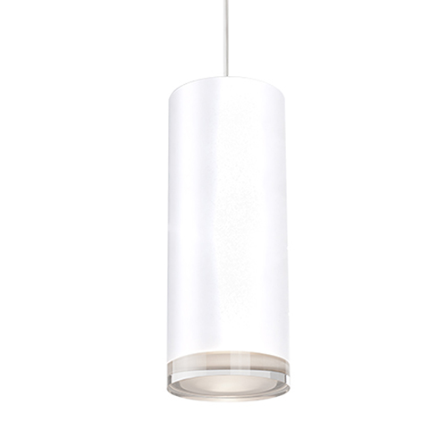 White Three-Inch One Light LED Pendant