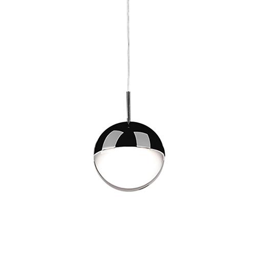 Black Chrome One Light LED Pendant