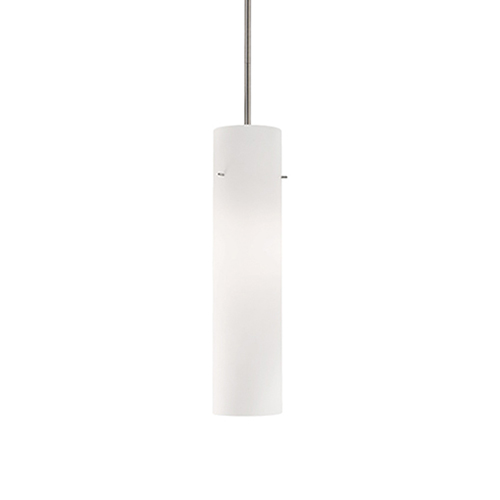 Brushed Nickel 16-Inch One-Light Pendant with White Opal Glass