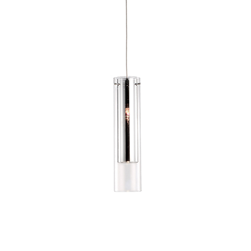 Chrome Three-Inch One-Light Pendant with Clear Glass