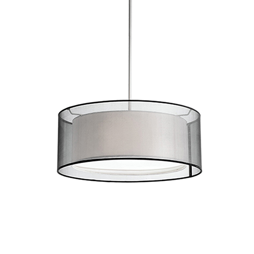 Brushed Nickel 15-Inch Two-Light Pendant